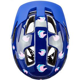 Lazer Lil Gekko Helm met Muskietennet Kinderen, blauw/bont